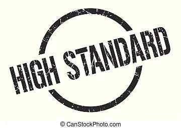 High standard sign. high standard paper origami speech