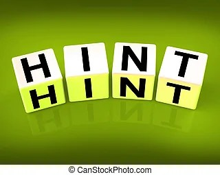 hint illustrations and clip art