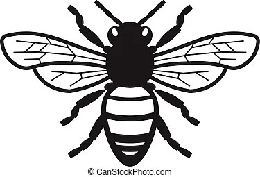 killer bee vector clipart eps