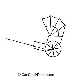 Rickshaw Vector Clipart Royalty Free. 838 Rickshaw clip