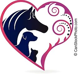 Download Veterinarian heart horse love. abstraction of animal care ...