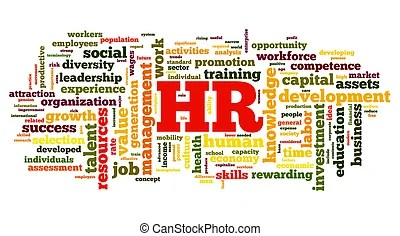hr - human resources concept