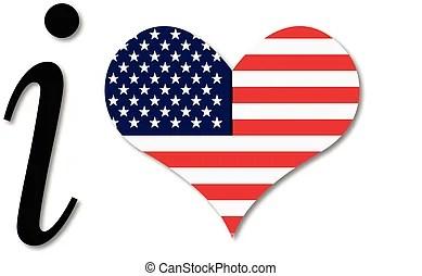 Download Heart usa flag vector logo. Heart usa flag vector icon ...