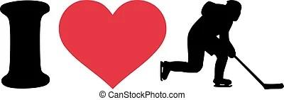 Download Hockey love. Creative design of hockey love.