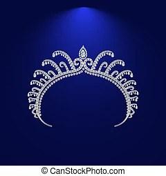 Rhinestone tiara crown.