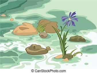 illustration of cartoon landscape