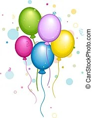 pastel balloons clipart and stock