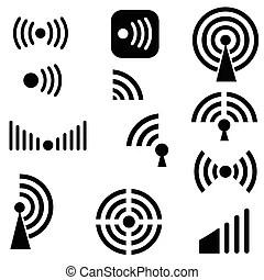 Radio waves Vector Clip Art EPS Images. 17,616 Radio waves