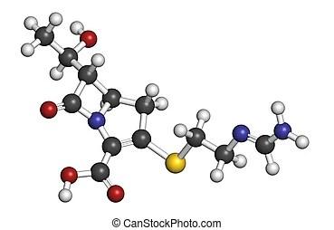Penicillin v antibiotic, molecular model. Penicillin v
