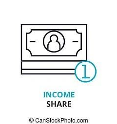 Revenue expectation black icon concept. revenue