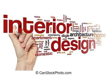 Interior Design Word Cloud Concept Interior Design Word Stock
