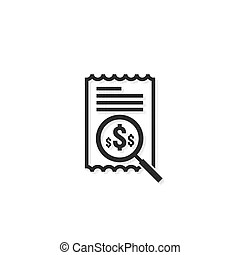 Accounting business management line icon. payment money