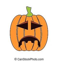 pumpkins sad face vector clipart
