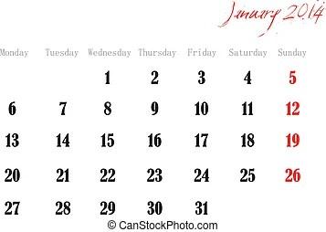 January 2014 Clip Art Vector Graphics. 1,930 January 2014