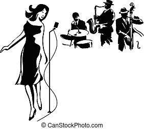 prom ballroom dance night illustration