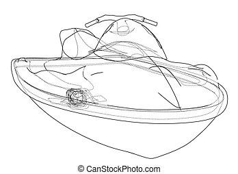 Jetski Clip Art Vector Graphics. 339 Jetski EPS clipart
