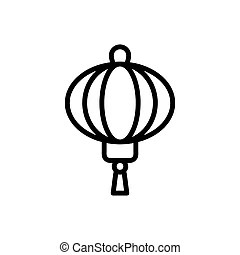 Japanese lantern icon, simple style. Japanese lantern icon