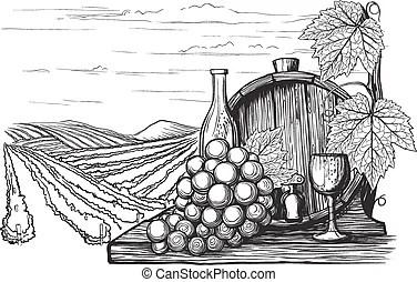 Vineyards Clip Art Vector Graphics. 10,660 Vineyards EPS
