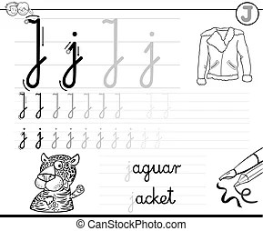 Learn to write letter s workbook for kids. Black and white