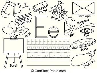 Colorful cartoon alphabet for children. vector educational