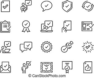 Approve icons Vector Clip Art EPS Images. 28,280 Approve