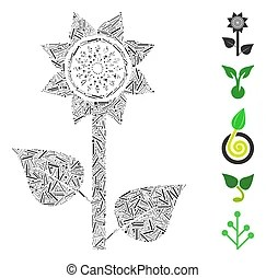 Sunflower plant Clipart Vector Graphics. 9,811 Sunflower