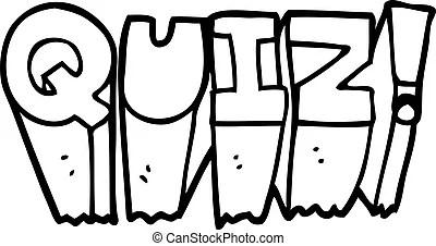 Freehand drawn cartoon quiz symbol.