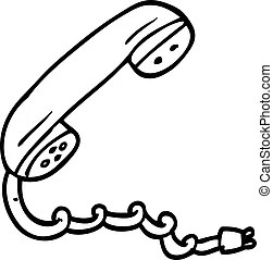 Telephone line drawing. Line drawing of a wireless