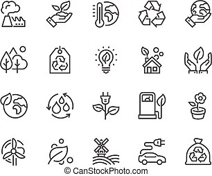 Line abstract product icons. Simple set of abstract