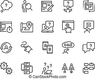 Usability testing Vector Clip Art Royalty Free. 382