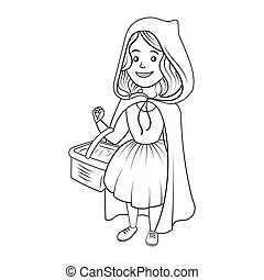 Little red riding hood coloring book. Coloring book or