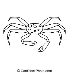Lunch spider. The spider is going dine, vector