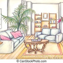 Living Room Pictures Clipart Gallery Of Rooms Decorating Ideas Stock Illustrations 81 937 Clip Art Images Artby Colematt10 190 Furniture
