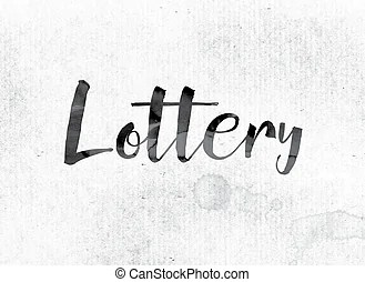 Contest word on billboard raffle drawing lottery. The word