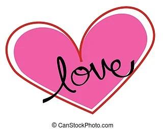 Download Vector illustration love heart cursive background.