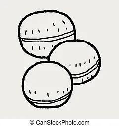Macaron background.