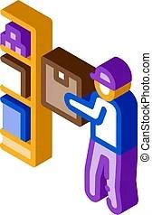 cellar vector icon restocking clipart vectors clip isometric illustrations pikepicture outline