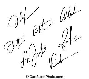 Signature vector autograph name.