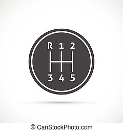 Manual transmission isolated on a white background.