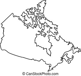Physical map of canada. Highly detailed physical map of