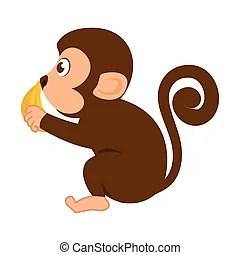 Image of: Monkey Animal Cartoon Can Stock Photo Monkey Ape Wild Cartoon Animal Holding Clean Welcome Board Cartoon