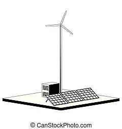 Solar power plant Clipart and Stock Illustrations. 8,664