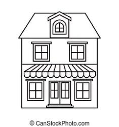 attic vector clipart clip monochrome silhouette floors illustrations