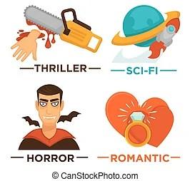 horror films illustrations