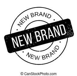 Brand new stamp. Rubber stamp illustration showing \