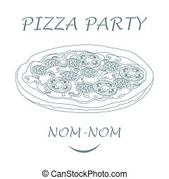 Pizza party Vector Clip Art Royalty Free. 1,625 Pizza