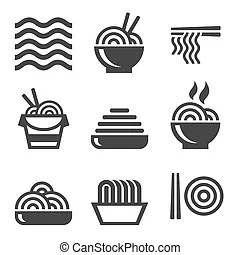 Meat food icons set on white background. Vector. clipart