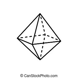 Octahedron Illustrations and Clipart. 388 Octahedron
