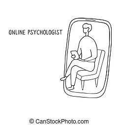 Professional psychotherapy counselling stressed patient