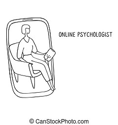 Online psychotherapy. psychologist consultation, adult web